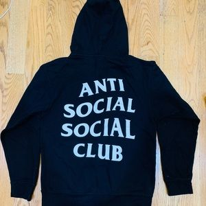 Antisocialsocialclub x Viceland hoodie-black